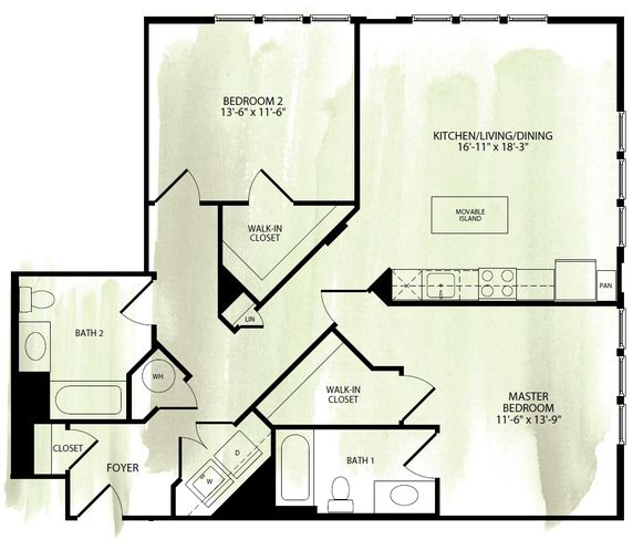 Studio, 1, And 2 Bedrooms Apartments In NE DC