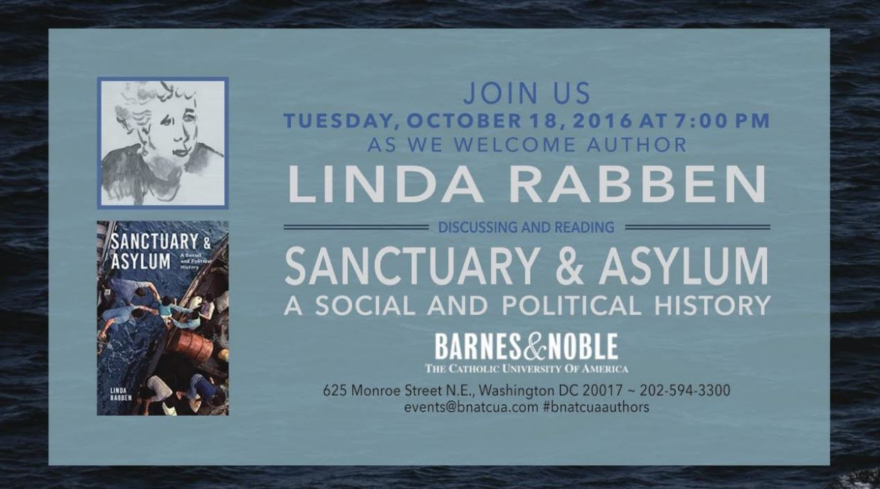 Barnes & Noble: Sanctuary & Asylum: A Social & Political History Discussion & Signing with Linda Rabben