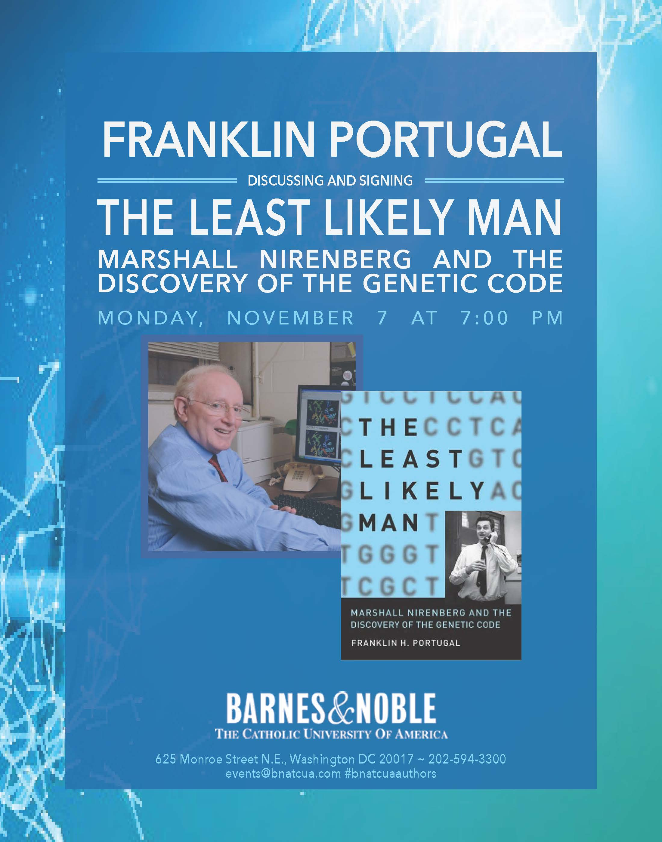 Barnes & Noble:  Author Franklin Portugal Discusses The Least Likely Man