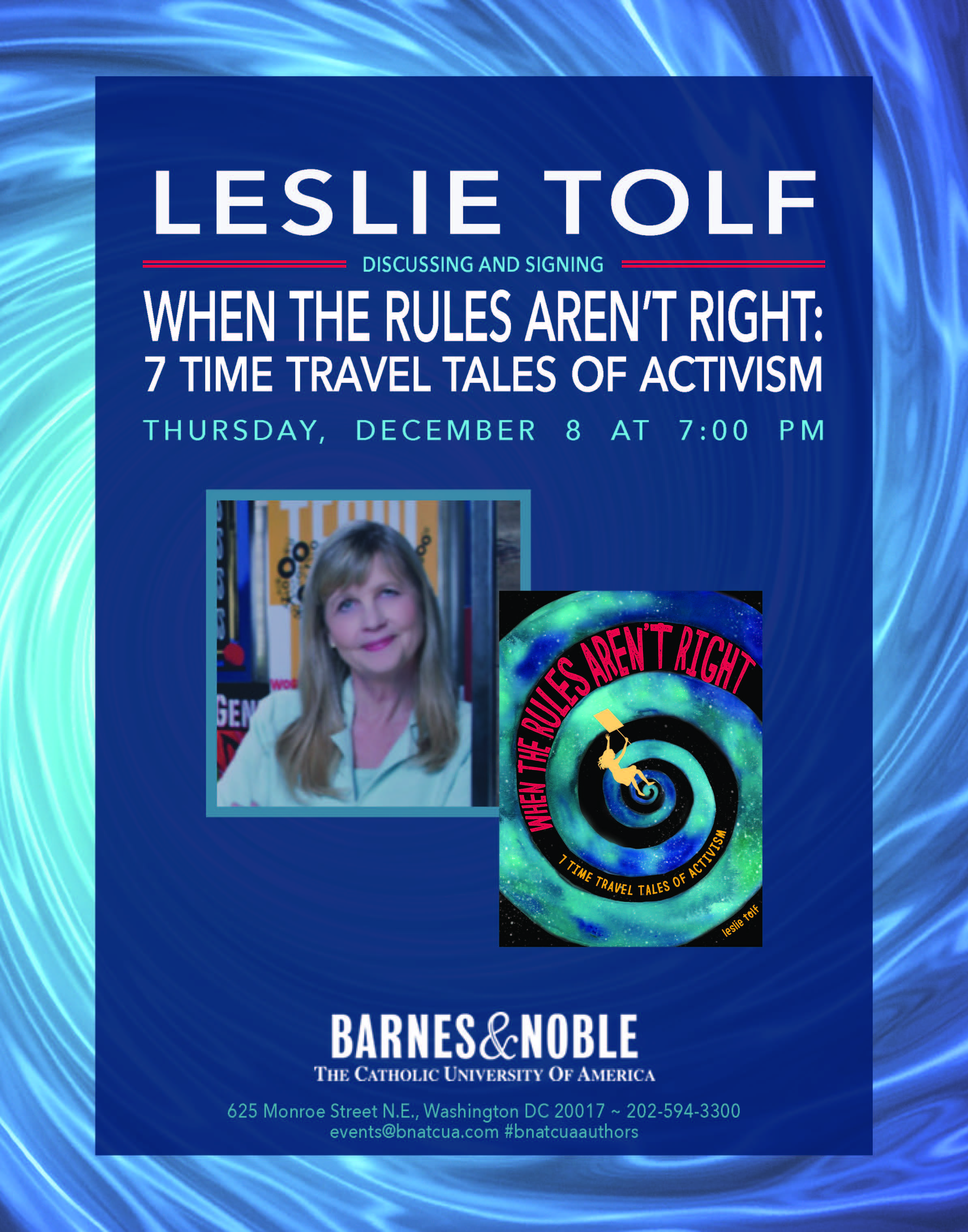 Barnes & Noble: When The Rules Aren't Right signing with author Leslie Tolf