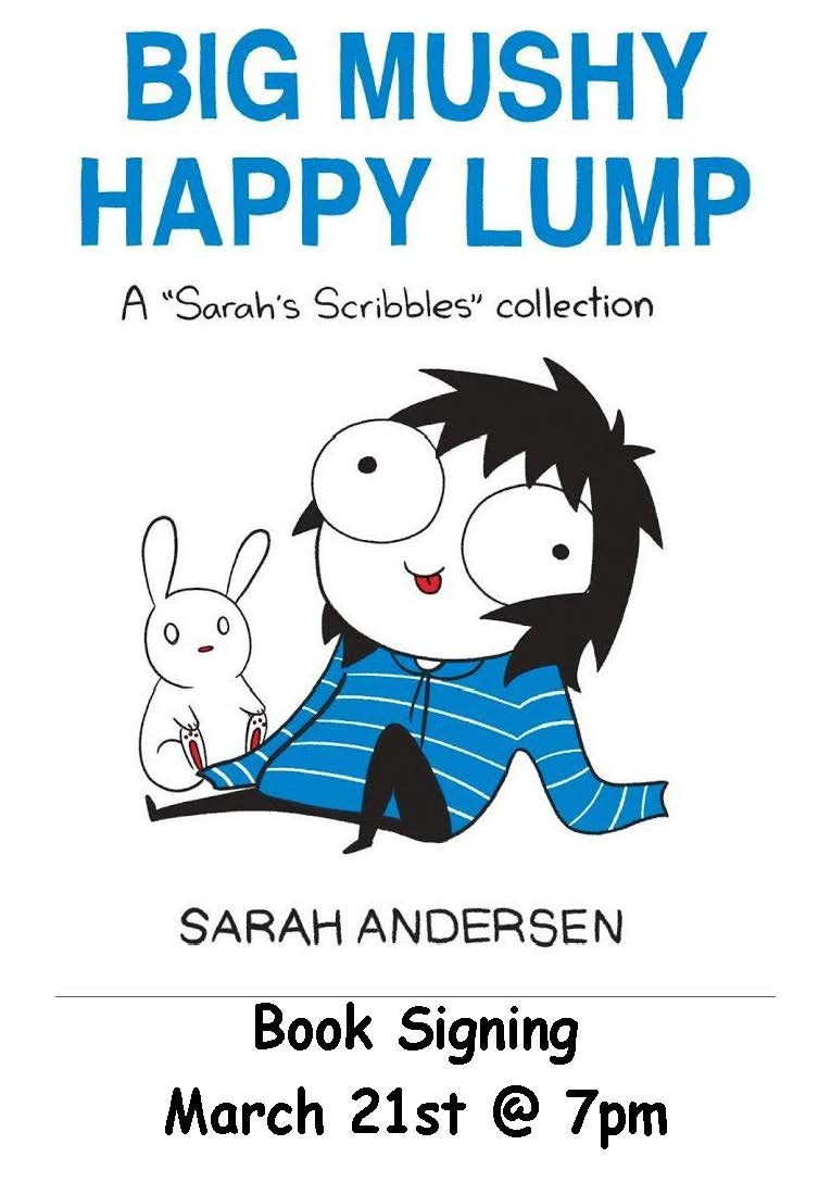 "Barnes & Noble: ""Bug Mushy Happy Lump"" Reading & Signing with Author Sarah Andersen"