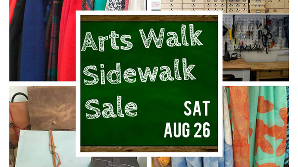 Arts Walk Sidewalk Sale
