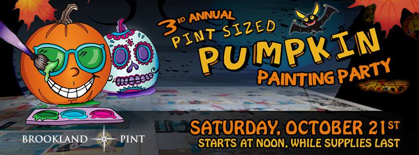 Brookland Pint:  Pint Sized Pumpkin Painting