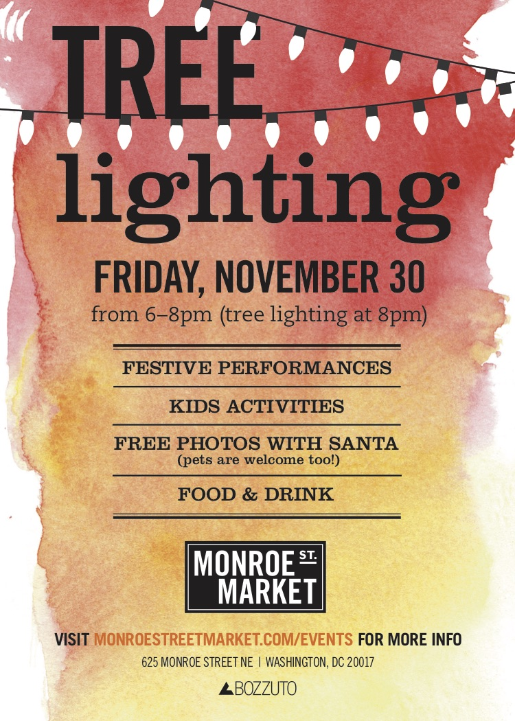 Monroe Street Market Tree Lighting