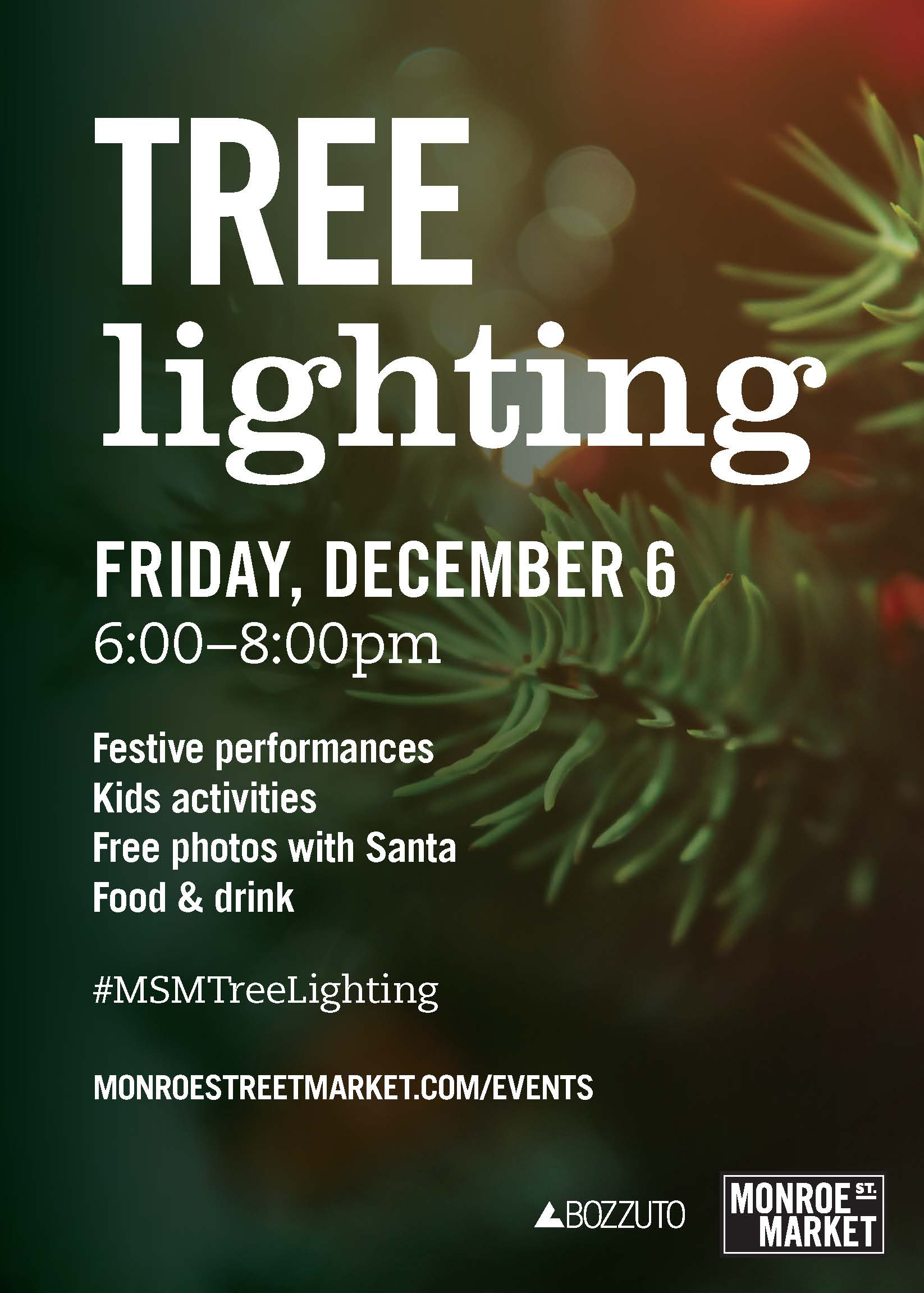 Monroe Street Market Annual Tree Lighting Event